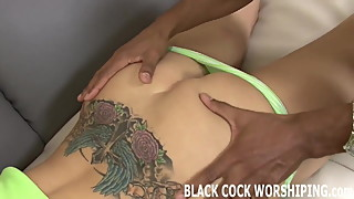 His big black cock is going to destroy my ass