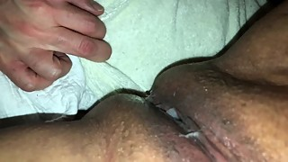 Cum eating Cuckold cleans my boyfriends  cream pie.