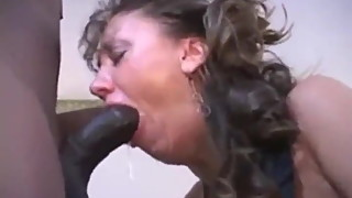 Cuckold Couple with Black Cock Serving Wife