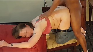 Slut can't even wait to take her pants off