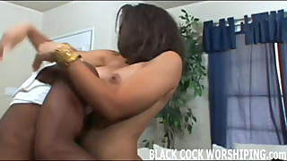Watch two big black cocks completely filling me up