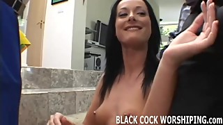 Watch me taking both these big black cocks
