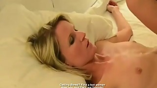 Beautiful tiny white wife eye contact IR cuckold