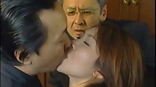 Cuckolded Man Watches 2 Men Tongue Kiss his Wife