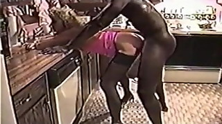 wife cuckolds husband in the kitchen
