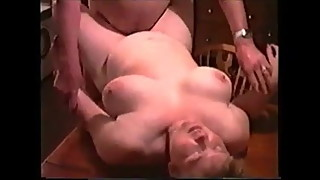 cuckold filming wife on table with friend