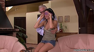 Old man asks him fuck young wife for money