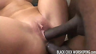 Two big black cocks are going to totally violate my pussy