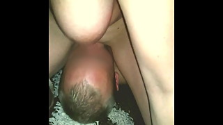 my buddy licks after the fuck, the wet pussy from my wife