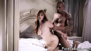 Ginger wife cuckolds husband with black cock