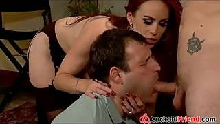 Mistress Training her Husband for Cuckold