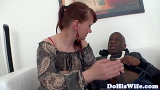 Redhead housewife gets creampied by bbc