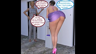 3D Comic: Cuckold Wife Gets Dirty With Her Boss For Wacky Tacky Day Part 2