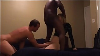 Real cuckold wife with hubby best friend
