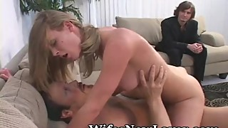 Rides Another Man Hard Until She Squirts