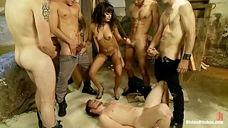 Poor Cuck Humiliated By Wife's Gangbang