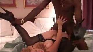 Cuckold Archive redhead MILF in stockings with BBC bull Siss