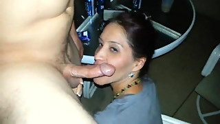gf gives intense blowjob to boyfriends friend