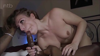 hot tattooed wife chokes on a BBC