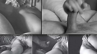 Hubby films and jerks off watching wife Cameon with friend