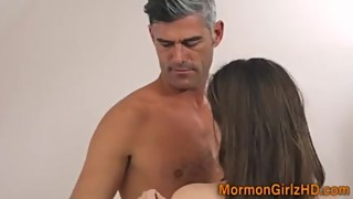 Teen mormon cummed over